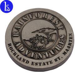 Magnete su ordinazione del frigorifero del distintivo di Pin di figura rotonda del magnete della moneta del peltro grande