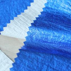 380t de Nylon Stof van de rimpel met het Blauwe Gouden Stempelen voor Kleren China