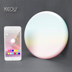 Keou 3D Frameless LED Panel-Oberfläche vertiefte Downlight eingebettete Farben-Änderung WiFi Bluetooth moderne LED intelligente Deckenleuchte der Lampen-24W RGB multi