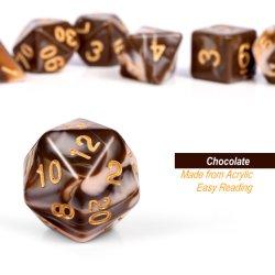 Juego de dados Juego de color chocolate, Polyhedral N&R dados