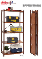 Escabeau pliable en acier Classiscal Rack de stockage pour la salle de séjour
