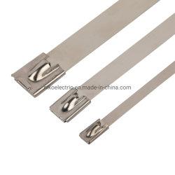 201 304 nus em aço inoxidável Self-Lock amarra em fábrica