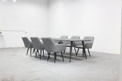 Accueil de l'aluminium chaise de salle à manger le tissu de gros de meubles de jeu moderne Table Chaise
