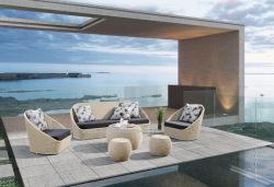 Profilé en aluminium PE faites à la main d'osier de jardin en rotin tissage canapé mobilier extérieur