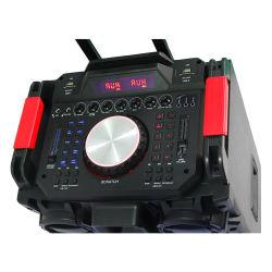 Двойной 10дюйма Sound System Professional за пределами использовать на базе тележки караоке динамик