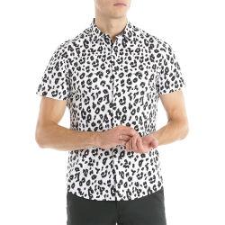 Gute Qualitätskurzschluss-Hülsen-Mann-Leopard-Korn-Großhandelshemden