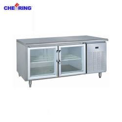 Glastür-Edelstahl-Handelskücheworktable-Gefriermaschine/Kühlraum