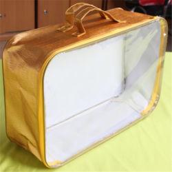 Couverture en PVC non tissé Fil d'acier laminé de gros sac à fermeture éclair,réutilisables en plastique RECYCLE Eco oreiller couette Quilt Shopping Don de la literie sac d'emballage de stockage de poussière