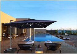 실외 UV 로마 Umbrellea 방수 소재 가구 3 * 3m 처리 우산 LED 라이트 파라솔 포함