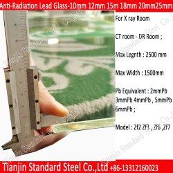 医学光線保護2mmpb 7mm 8mm 9mmの鉛ガラスシート