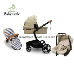 Nom du produit poussette poussette de bébé Matériel bébé Cadre en alliage en aluminium et voiture bébé tissu 600d