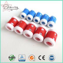 2つのサイズのプラスチック手の編む列のステッチパターンカウンター