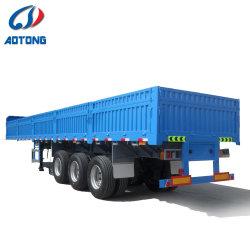 3개의 차축 반 콘테이너 대량 화물 수송기 측벽 트레일러를 위한 실용적인 화물 트레일러 트럭