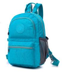 Neue Designer-Tasche Mit Doppeltem Schultertasche Aus Reinem Farbdesign Und Wasserdichtem Nylon-Material Schul-Rucksack (2) Zh-Bk102