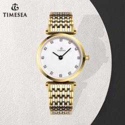 Настраиваемый логотип дамы Crystal Face Quartz наручные часы (71301)
