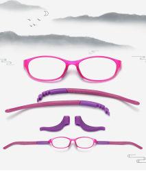Magnet Kinderbrille Rahmen TR90 Kinder Silikon myopia Brille Rahmen Zweifarbige Schüleroptik In Kleiner Größe