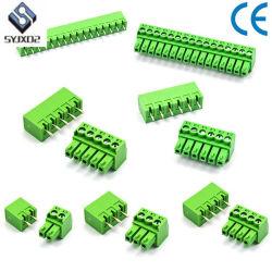 El verde 2edg3.81mm-2pins Phoenix bloque terminal macho y hembra del conector PCB