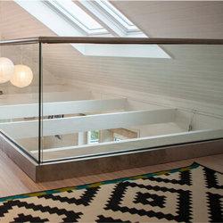 Terrace Railing Design RVS Glass Balustrade Tempered Glass Railing Fabrikant van de handrail