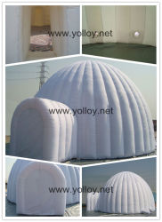 Parte branca Yurt Dome Insuflável Tenda para eventos