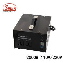Het Gebruik 2000W 110V-220V of 220V-110V van het huis voert Transformator &Down op