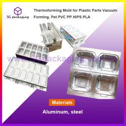 플라스틱을%s Thermoforming 형은 형성하는 진공, 애완 동물 PVC PP 엉덩이 PLA를 분해한다