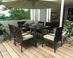 Table à manger de rabattement et empilables Chaise en rotin de jardin en plein air (K30)