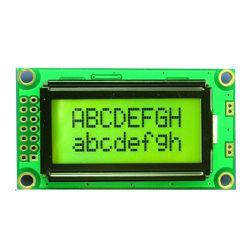 특성 LCD 모듈 Stn 황록색 8X2 5V는 계기 또는 장비를 신청한다