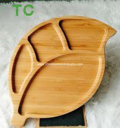 En forme de feuilles de bambou naturel desservant les plateaux bac