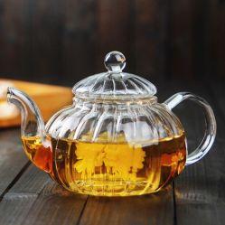 Abóbora pote de vidro britânico Bule bule de café com Filtro