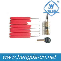 Yh9271 고품질 자물쇠 제조공 Kaba 8PCS 빨간 자물쇠 후비는 물건은 + 투명한 사례 통제 + 2개의 키 놓았다