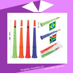축구 축구 Vuvuzela는 부채로 부친다 선전용 선물 (KM-002)를 위한 깃발을%s 가진 경적을