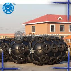 Cuscino ammortizzatore di gomma pneumatico di galleggiamento con la rete del pneumatico e della catena