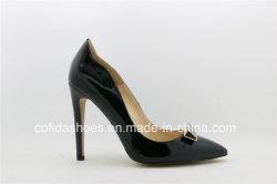 16ss熱い販売の革セクシーなハイヒールの女性の靴