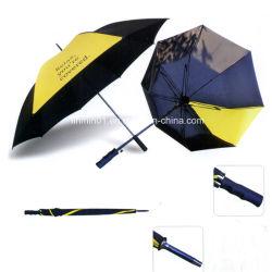 regalo de promoción exterior Windproof Sol lluvia Golf paraguas bastón recto