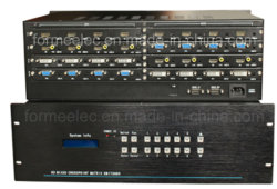 8 en 8 salida HDMI DVI VGA AV HD perfecta divisor de conmutador de matriz mixta