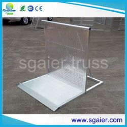 Freies Standing Event Support Services Foldable Stage Barrier Aluminum Mojo Barrier für Keep Order