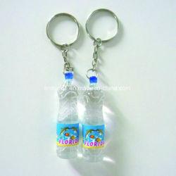Бутылка воды формы прозрачный пластиковый цепочке для ключей в подарок для продвижения