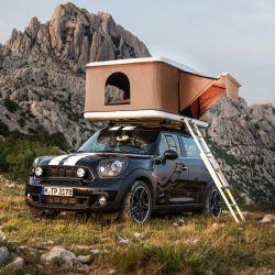 Tenda Da Campeggio Con Tetto Per Auto Hard Shell Di Buona Qualità Per Campeggio Con Scaletta Pieghevole In Lega Di Alluminio