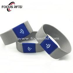 A NXP Ultralight EV1 tecidos stretch bracelete IC RFID para festival de eventos