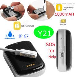 Imperméable IP67Mini appareil Tracker GPS personnel avec le bouton SOS Y21