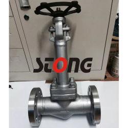 602 de la API de acero forjado de extender el capó 150lb 800lb Válvula de compuerta de criogenia