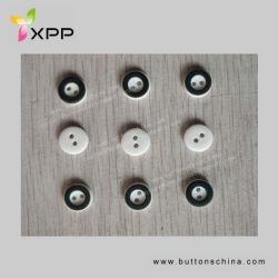 2h 11,5mm branco com botão de plástico de cor preta