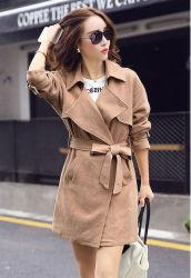 El otoño de nuevo la ropa de algodón señoras chaqueta larga