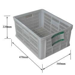 Plastic Transport stapelbare opvangbak voor omzet voor fruit 470X360X220mm