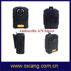 Construido en 2900mAh Batería de litio Ambarella IP65 A7 Cuerpo de Policía Grabador DVR