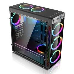 Si el nuevo PC de juegos de ordenador juegos de moderno diseño de torre ATX Caso Caja del ordenador de escritorio