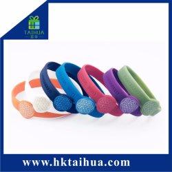 La promoción de la muñequera reloj de silicona, pulseras de silicona, la banda de goma