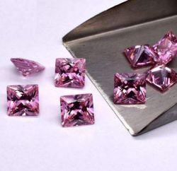 Zirkoon van de Kleur van Asscher/van het Vierkant/van de Prinses het Kussen Gesneden Roze