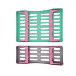 أفضل سعر البلاستيك تغليف تعقيم صندوق لخرم الأسنان خمسة حاملات الفتحات لوضع الثقب