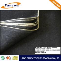 Propiedad 100% algodón color índigo Basic tejido Denim